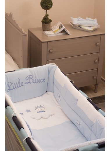 Little Prince Park Yatak Uyku Setı (Kenar Korumalı 6 Parça)-Aybibaby